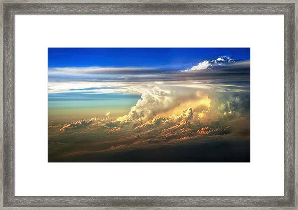 Fire In The Sky From 35000 Feet Framed Print