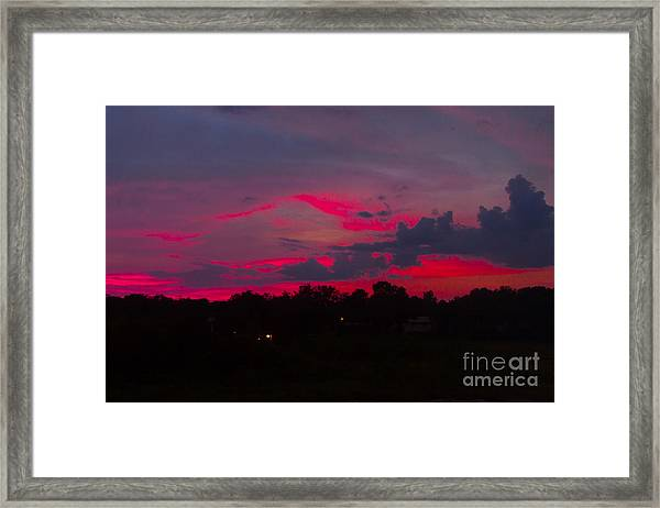 Fire In The Sky Framed Print by Heather Roper