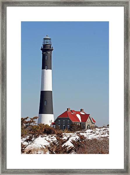 Fire Island Snow Framed Print