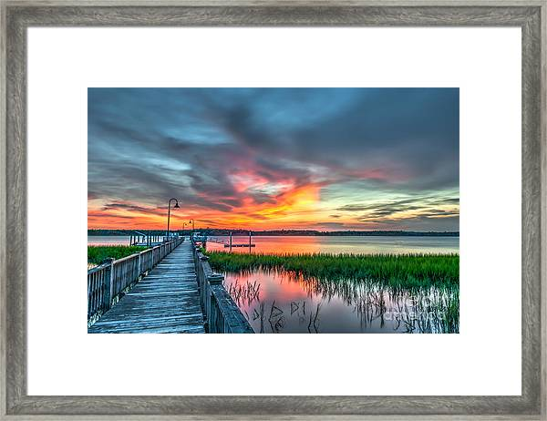 Fire Light Framed Print