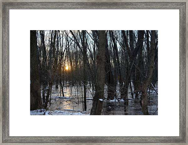 Fire On Ice Framed Print by Bill Helman