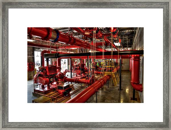 Fire Pumps Framed Print