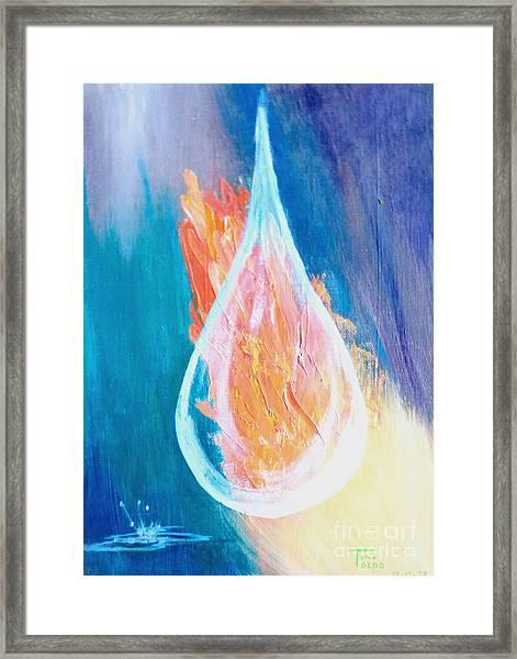 Fire Water Framed Print