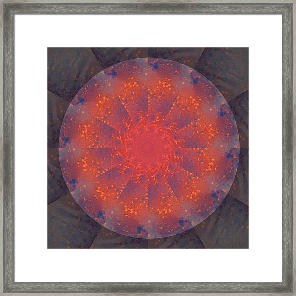 Fire Water Mandala Framed Print