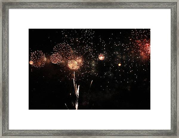 Framed Print featuring the photograph Fire Work Display by Debbie Cundy