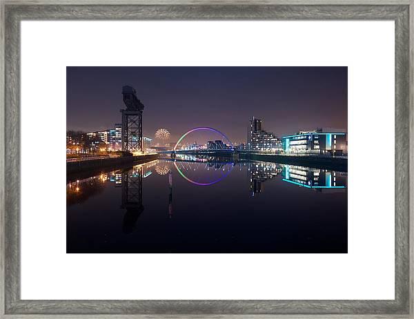 Fire Works Night Glasgow Framed Print