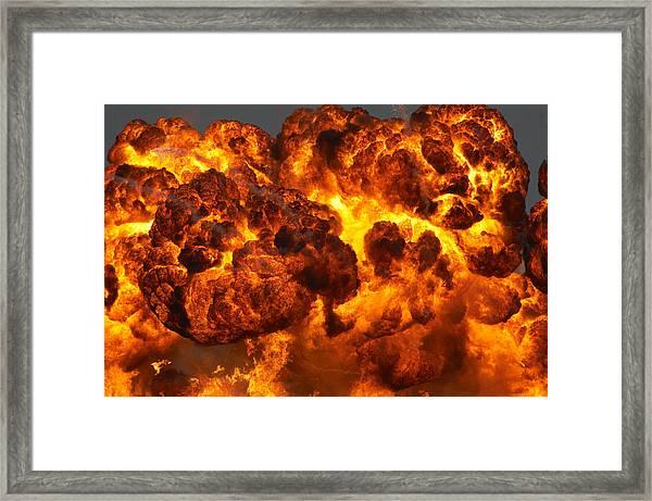 Fireball Framed Print by JohnnyPowell
