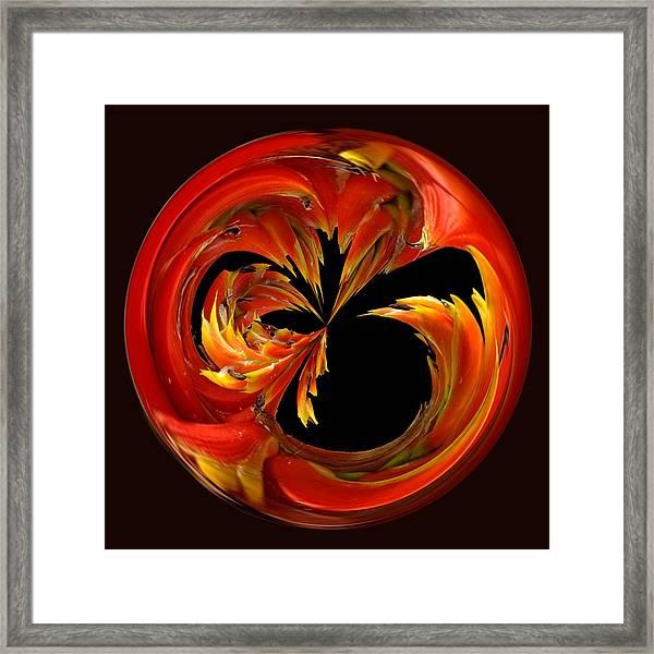 Fireball Orb Framed Print