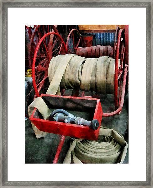 Fireman - Fire Hoses Framed Print
