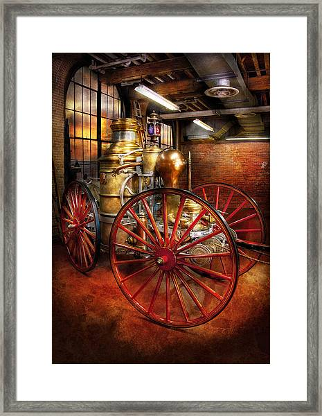 Fireman - One Day A Long Time Ago  Framed Print