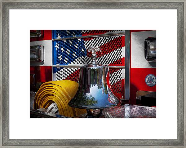 Fireman - Red Hot  Framed Print