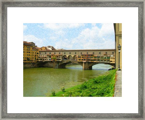Firenze Bridge Itl2153 Framed Print