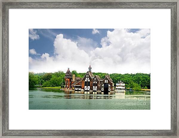 Firestation On The 1000 Islands Framed Print