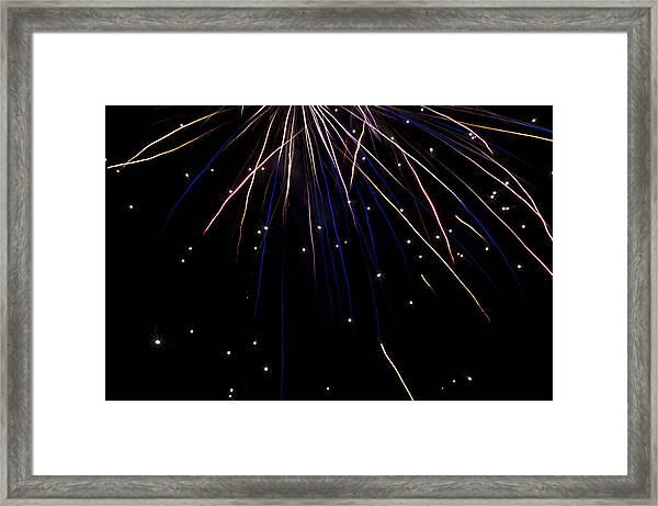 Firework Rain Framed Print