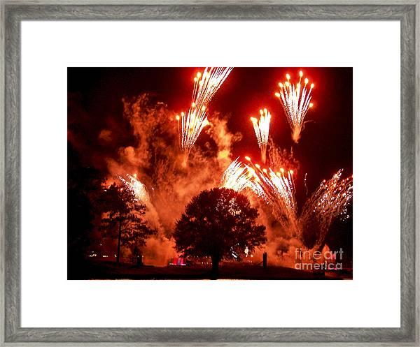 Fireworks At Epcot 1 Framed Print