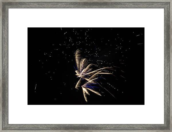 Framed Print featuring the photograph Fireworks - Dragonflies In The Stars by Scott Lyons