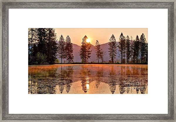Firey Reflections Framed Print