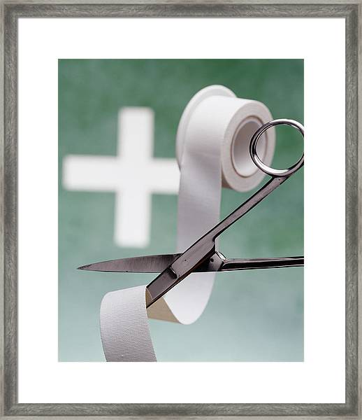 First Aid Equipment Framed Print