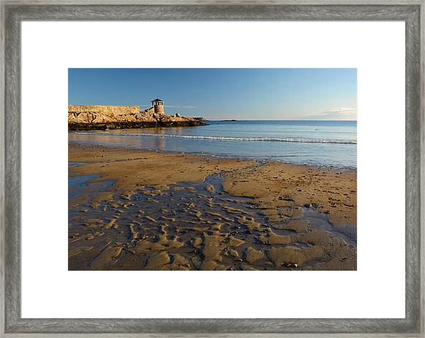 First Beach Sunrise In Rockport Framed Print