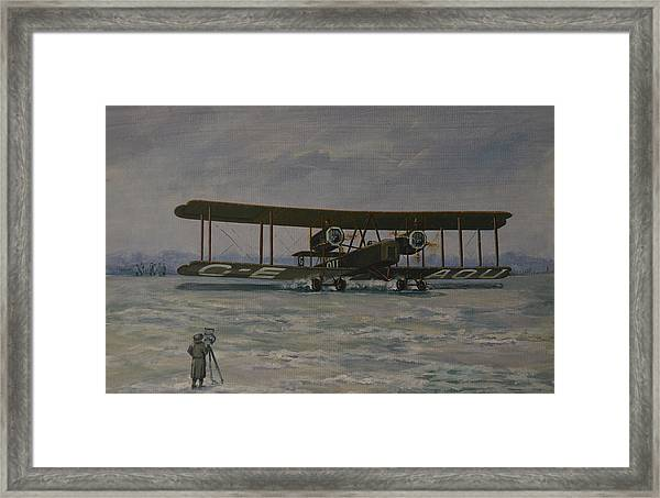First England-australia Flight 1919 Framed Print