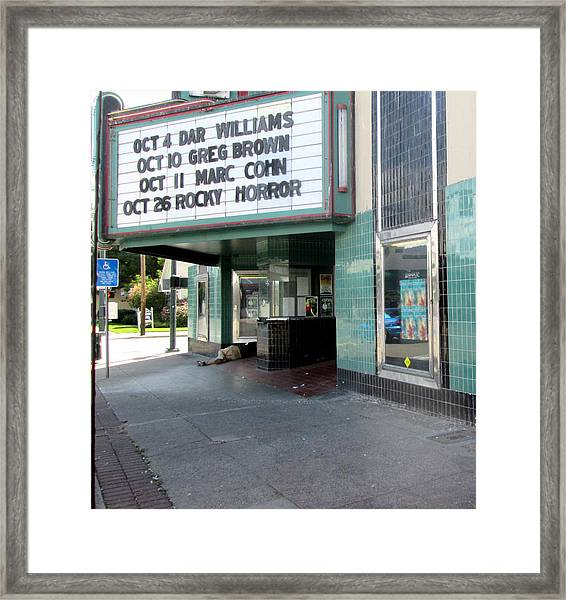 First In Line Framed Print