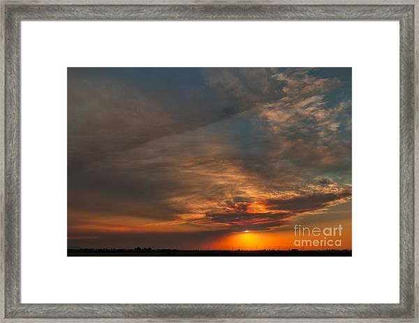First Montana Sunset Framed Print