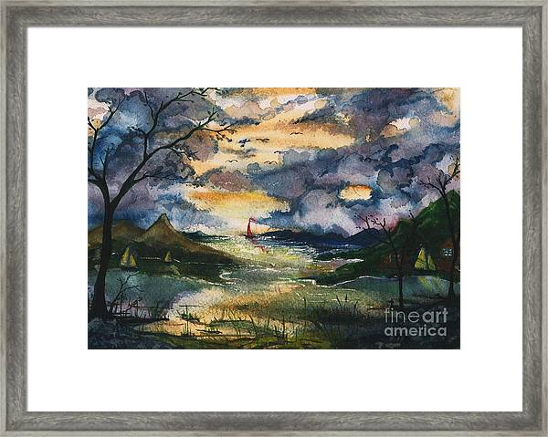 First One Out Of The Cove  Framed Print