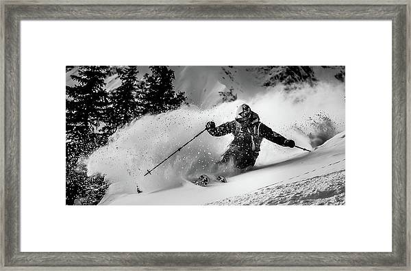 First Tracks.... Framed Print by Eric Verbiest
