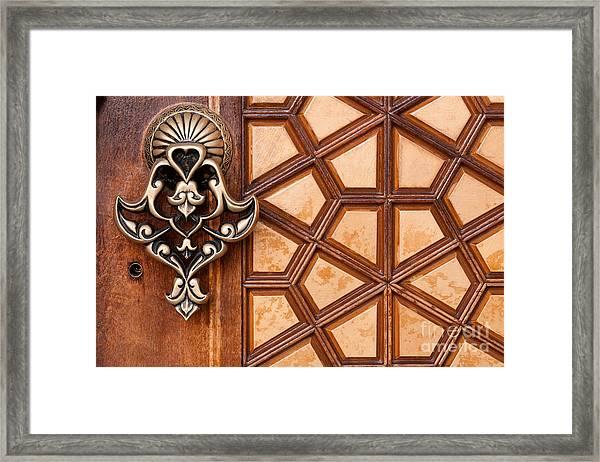 Firuz Aga Mosque Door 03 Framed Print