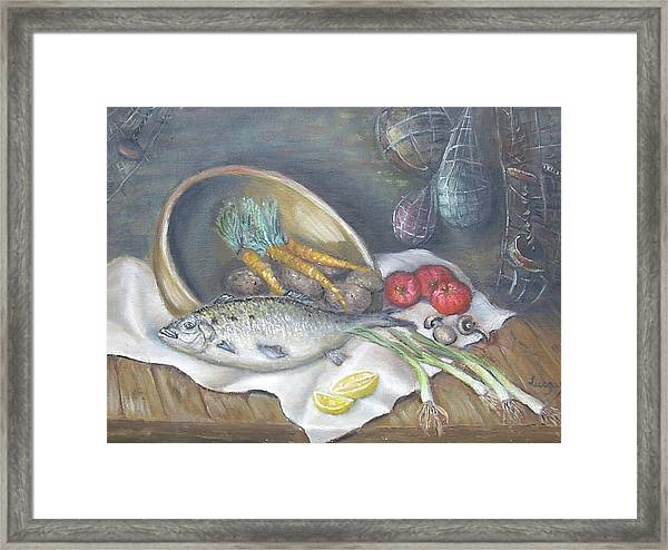 Fish For Dinner Framed Print