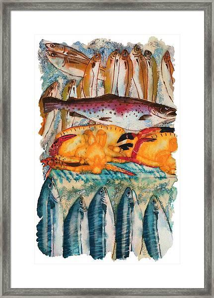 Fish Market Framed Print by Tess Stone