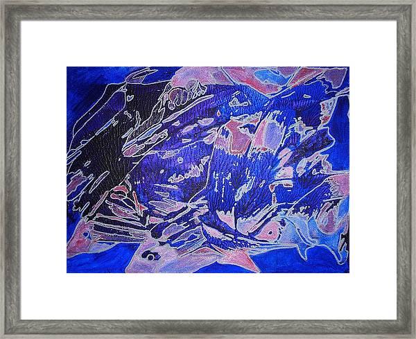 Fish Shoal Abstract Framed Print