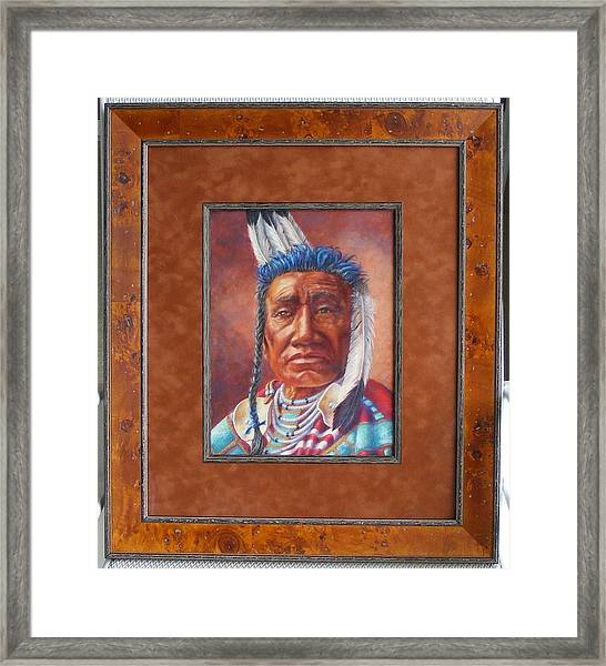 showing the frame on Fish Shows Native Am. Indian Framed Print