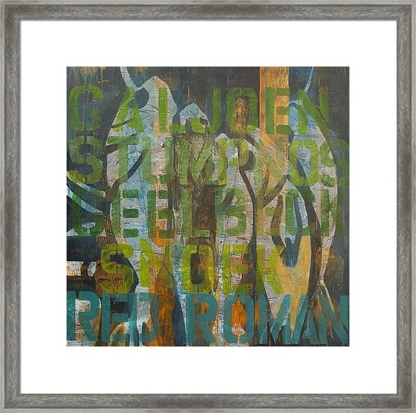Fish Tales Green Framed Print
