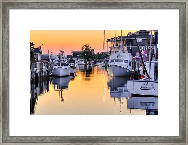 Fisherman's Cove. Eastern Passage. Near Dartmouth Nova Scotia. Framed Print