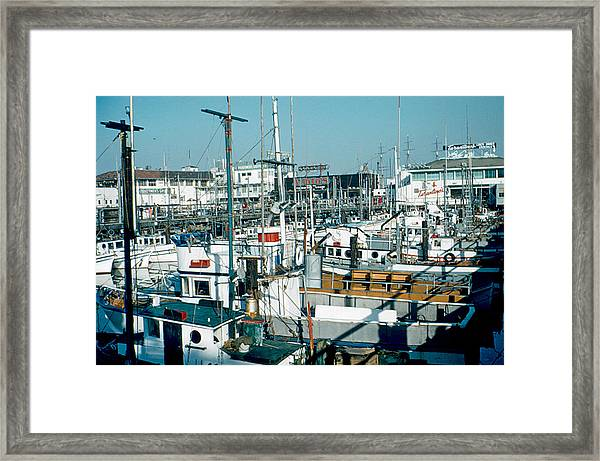 Fisherman's Wharf 1956 Framed Print by Cumberland Warden