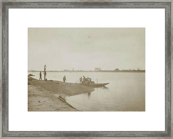 Fishermen On The Bank Of A River, Henry Pauw Van Wieldrecht Framed Print by Artokoloro