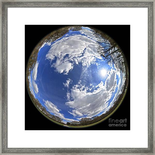 Fisheye Park Framed Print