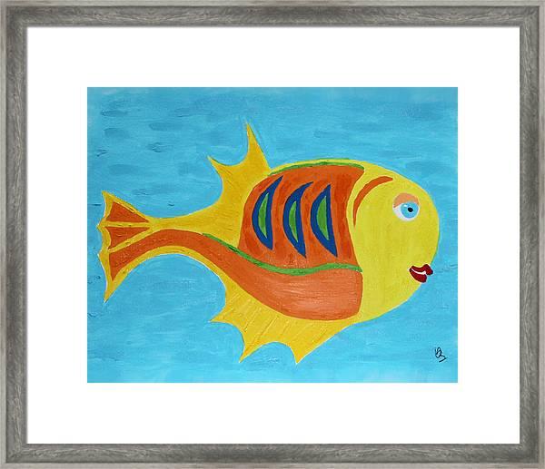 Fishie Framed Print