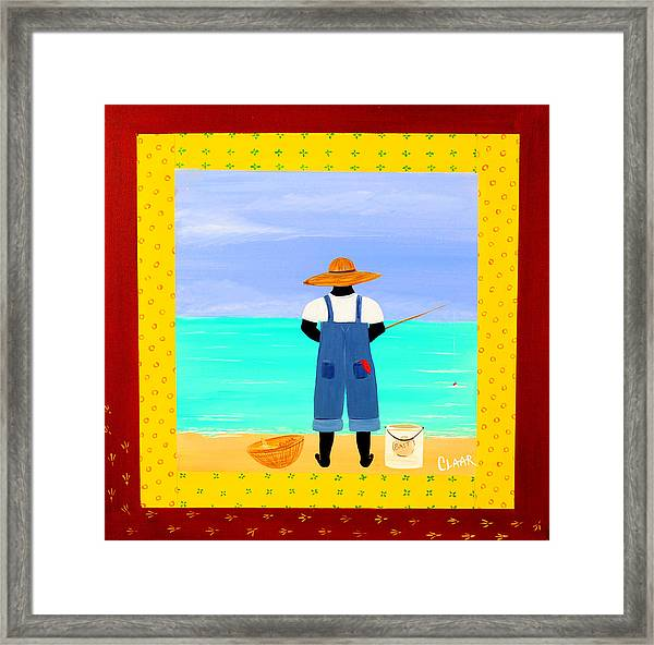 Fishin Framed Print by Samantha Claar