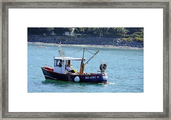 Fishing Boat At Portovenere Framed Print