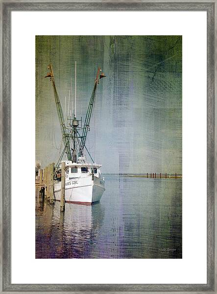 Fishing Boat In Chincoteague Framed Print