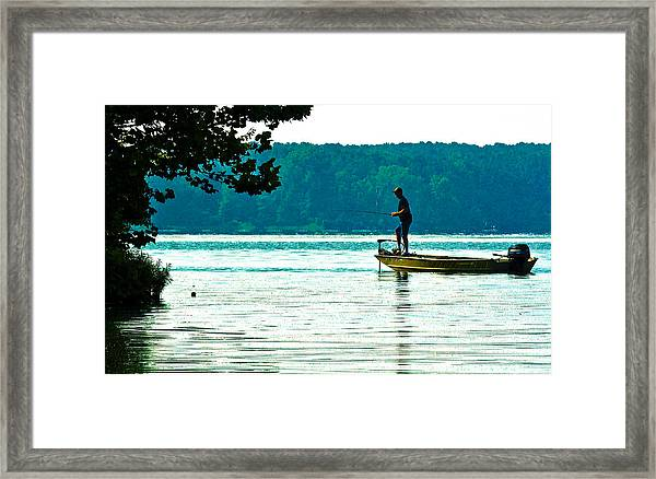 Fishing Crab Orchard Lake Framed Print