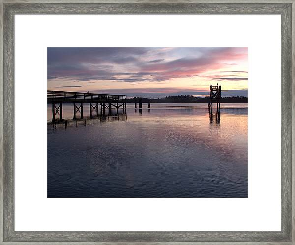 Fishing Dock Pastel Framed Print