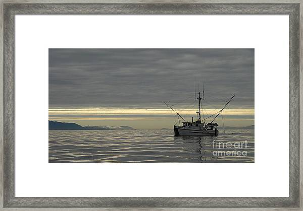 Fishing In Alaska Framed Print