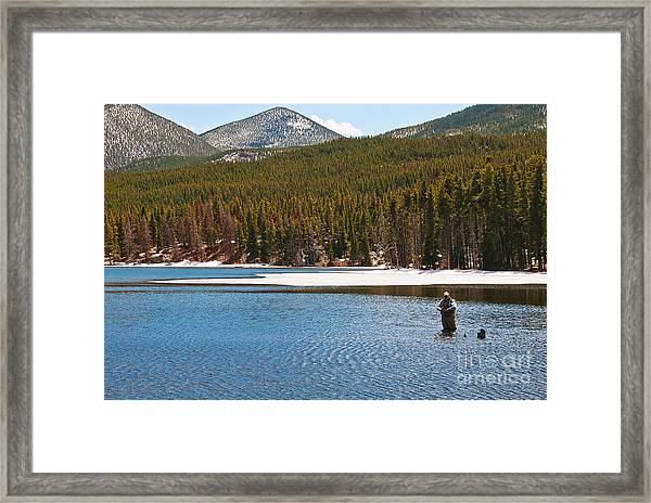 Framed Print featuring the photograph Fishing In Winter by Mae Wertz