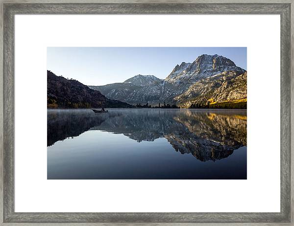 Framed Print featuring the photograph Fishing On Silver Lake  by Priya Ghose