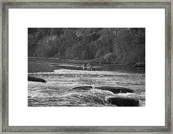 Fishing On The American River Framed Print