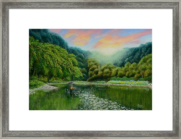 Fishing On The Dix Framed Print