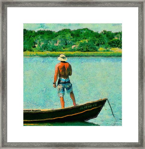 Fishing On The Matanzas Framed Print